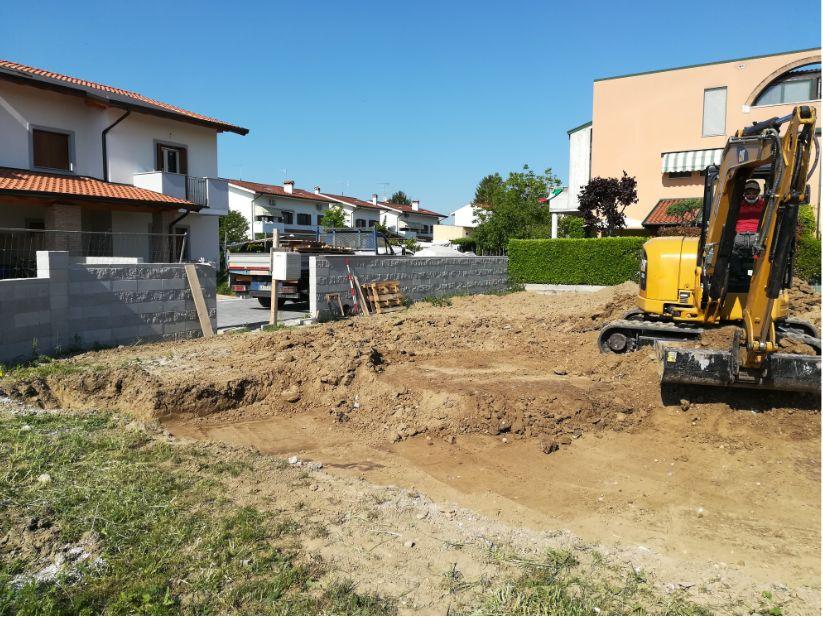 scavo per fondazioni