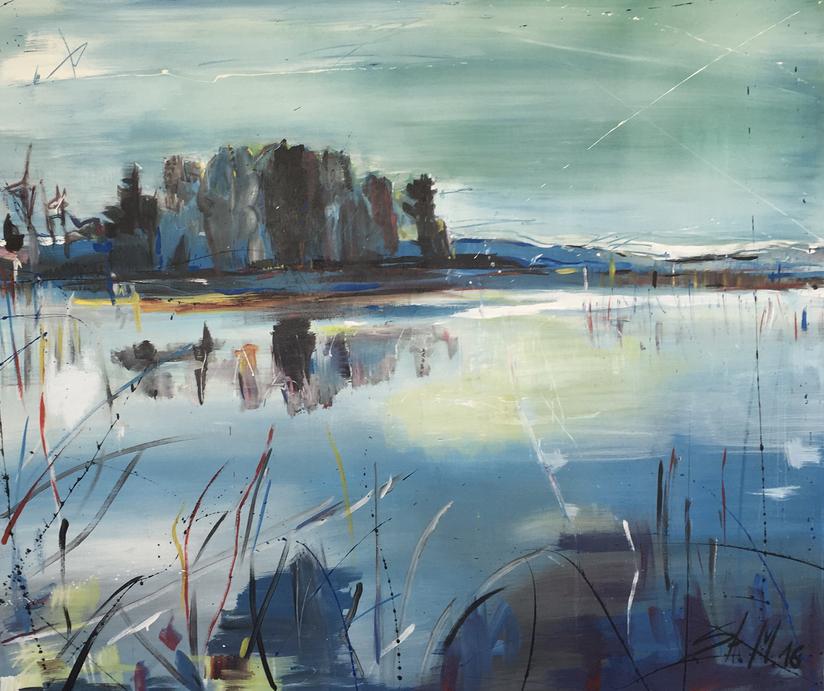"""Winter"", mixed media on canvas, 2016"