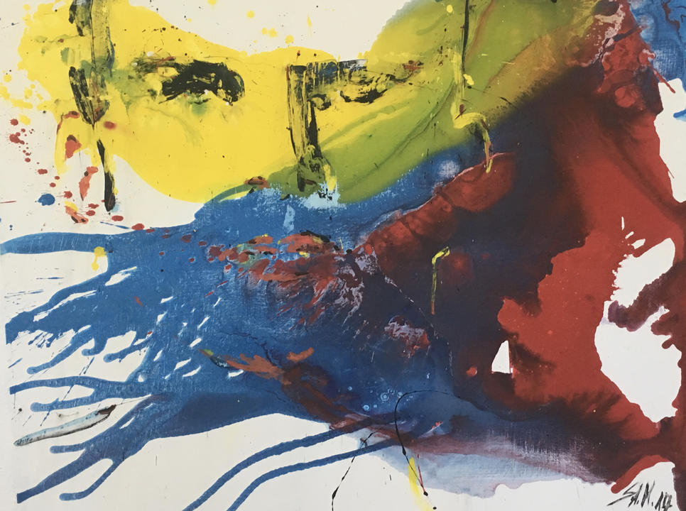 """ohne Titel"" mixed media on canvas, 2017"