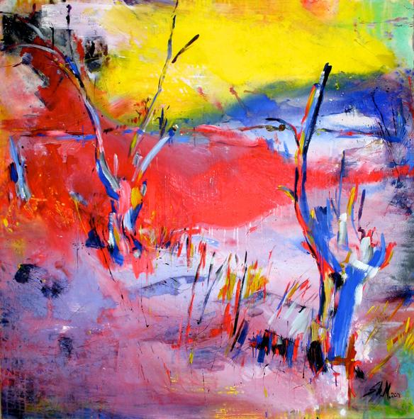 """""""Moorlandschaft"""", 2013, Mixed Media on Canvas, Privatsammlung"""