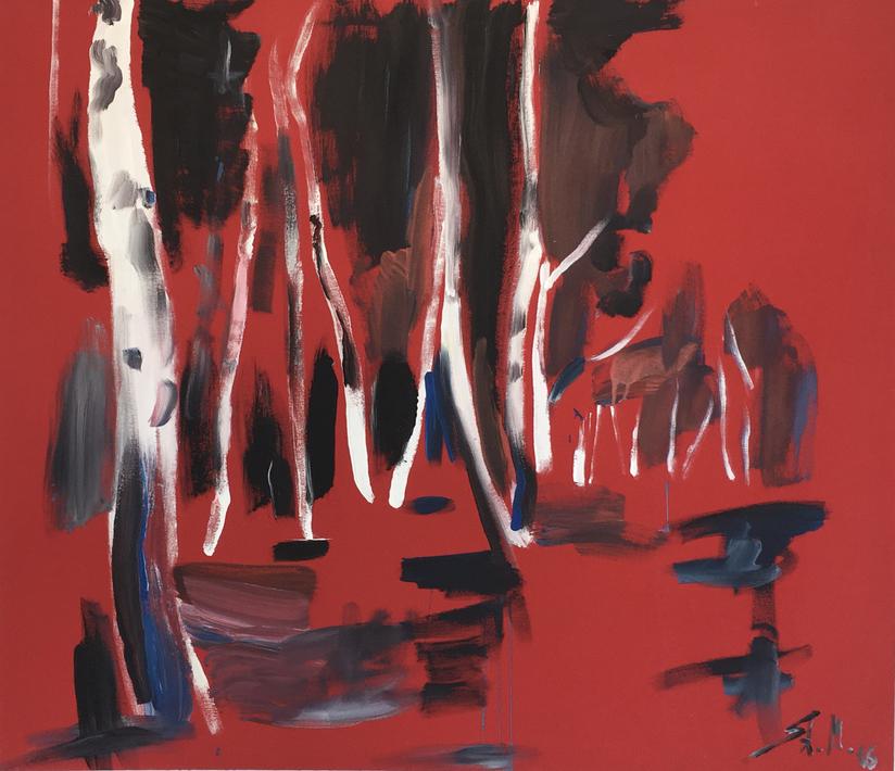 """ohne Titel"", mixed media on canvas, 2016"
