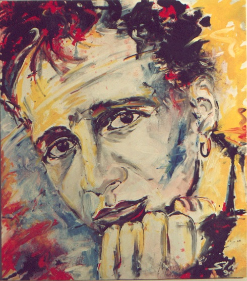 """Martin"", 1990, Mixed Media on Canvas, Privatbesitz"