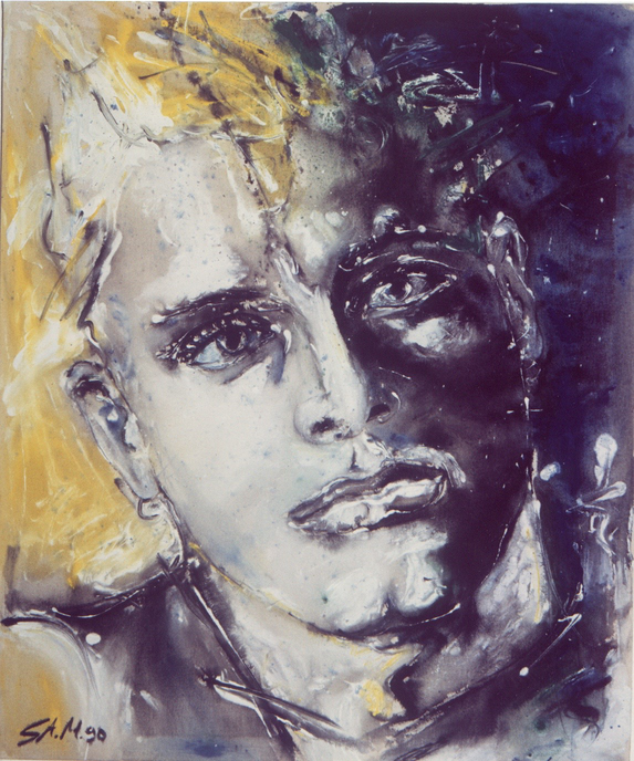 """Change"",1990, Mixed Media on Canvas, Privatbesitz"