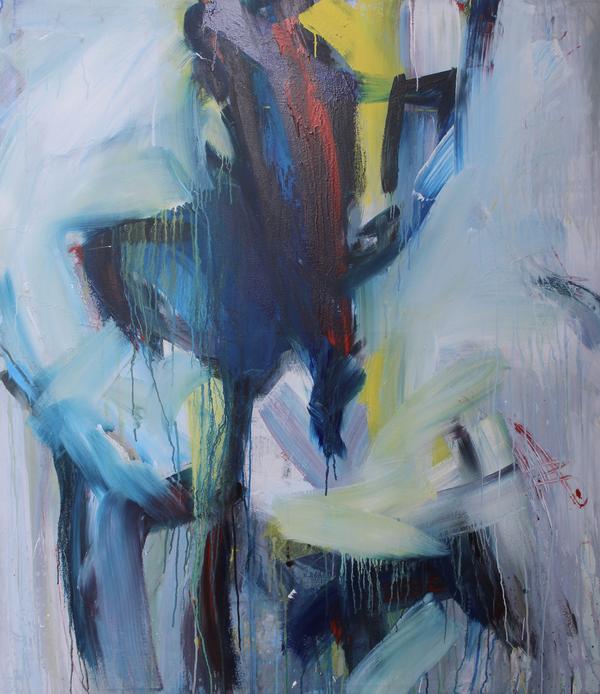 """ohne Titel"" mixed media on canvas, 2018,"