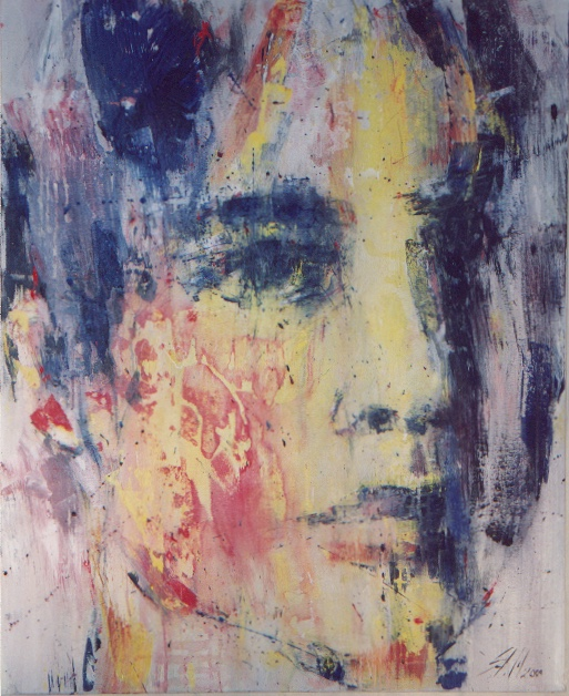 """ohne Titel"", Mixed media on canvas, 2001, Privatbesitz"