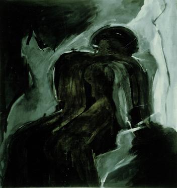 """""""die Geister, die ich rief"""", 1986, Tempera auf Canvas, Privatbesitz"""