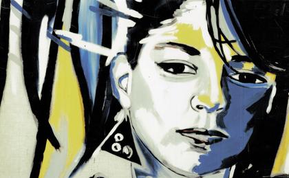 """""""meine Schwester"""", 1983, Dispersion auf Canvas, Privatsammlung"""