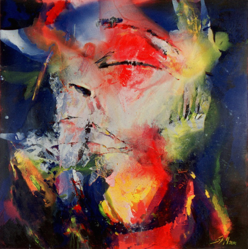 """ohne Titel"", 2000, Mixed Media on Canvas, Privatsammlung"