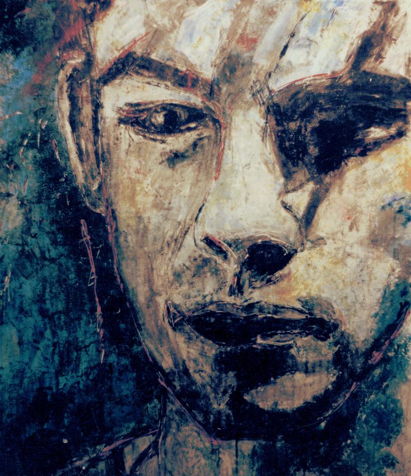 """""""#Andreas Herder """" Schauspieler, 1988, Dispersion auf Canvas, Privatbesitz"""