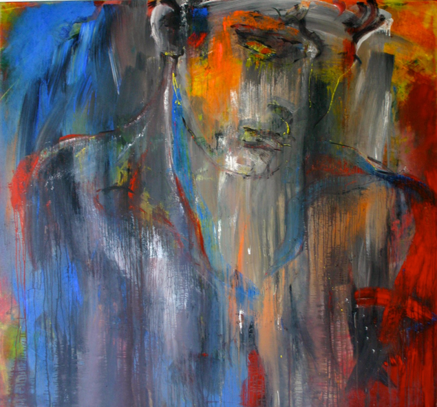 """ohne Titel"", 2013, Mixed Media on Canvas, Privatsammlung"