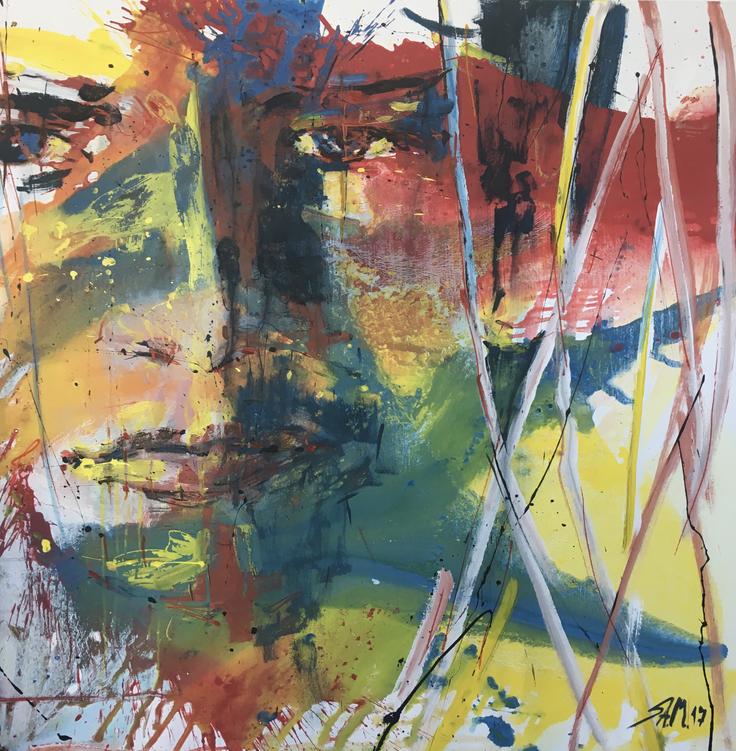 """ohne Titel"", mixed media on canvas, 2017"