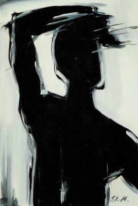 """""""Gegen das Licht"""", 1986,  Dispersion auf Canvas, Privatbesitz"""