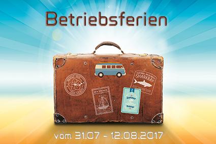 Betriebsferien von Staunraum 31.07-12.08.2017