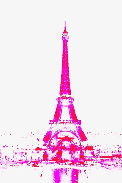 Eiffelturm Paris in Popart Farben
