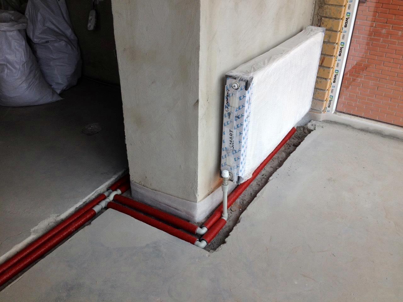 Пример установки радиаторов Винница