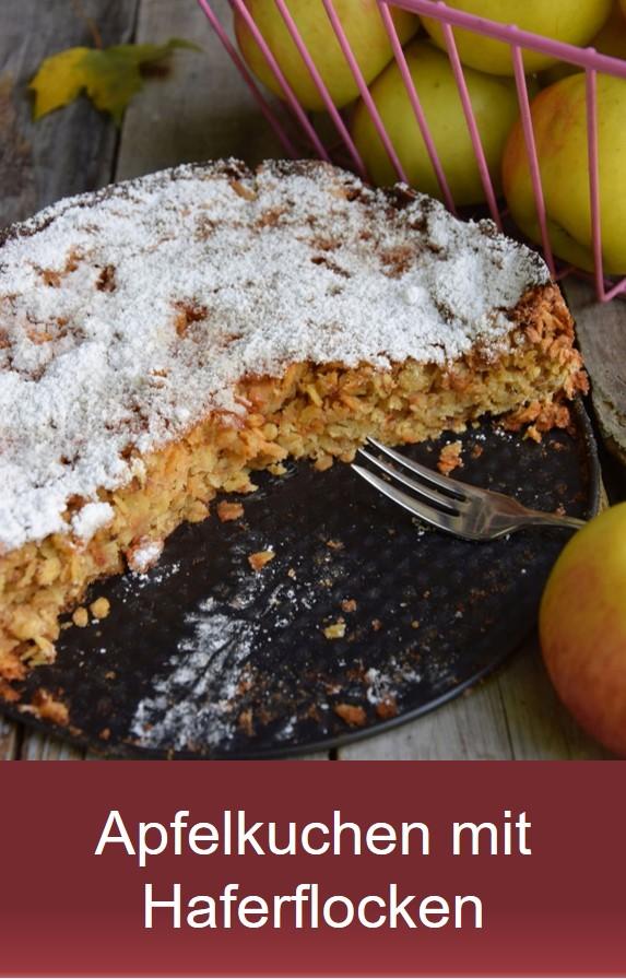 Apfelkuchen mit Haferflocken Rezept