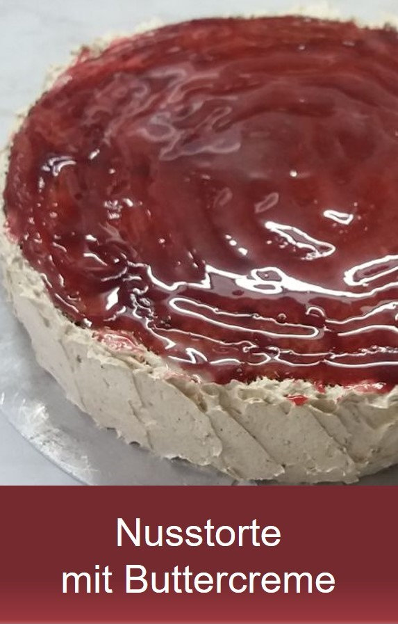 Tortenklassiker - Nusstorte Rezept mit Buttercreme