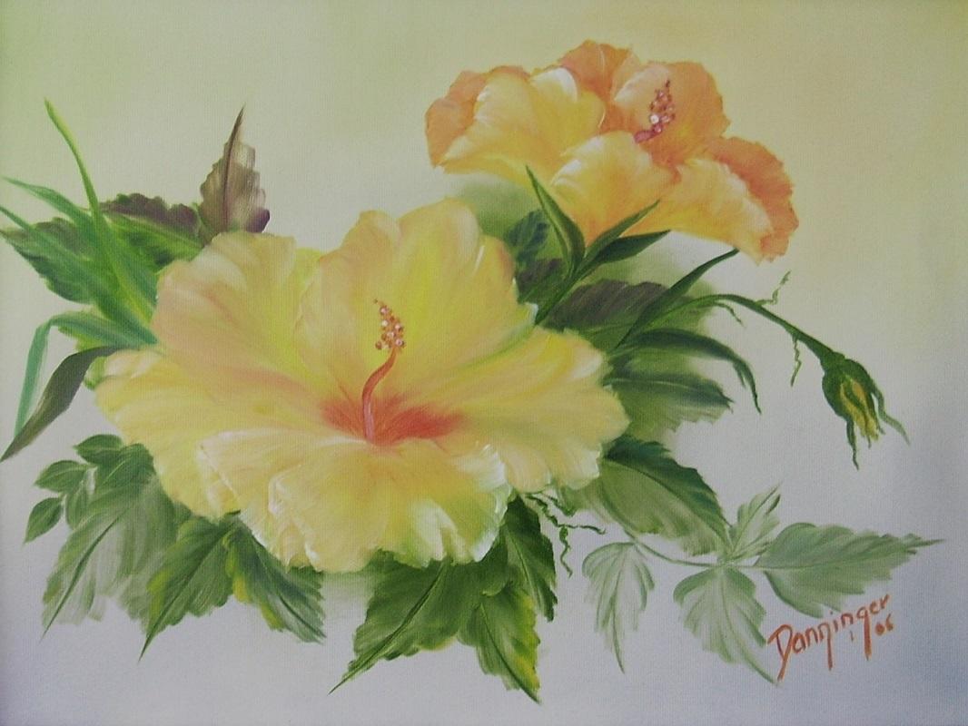 Hibiskus gelb, Öl auf Leinwand. Handgemaltes Blumengemälde by Daninas-Kunst-Werkstatt. Wussten Sie, dass der bloße Anblick von Pflanzen Ihre Stimmungslage positiv beeinflussen kann? Sie wollen erfahren wie? Dann schauen Sie auf meiner Website vorbei ...