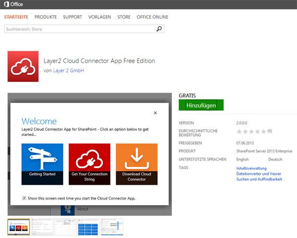 Layer2 Cloud Connector App - Kostenfrei im Microsoft App Store
