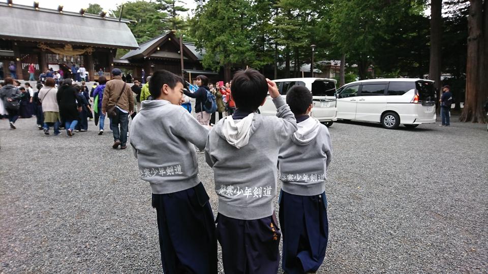 剣士たち北海道神宮奉納試合