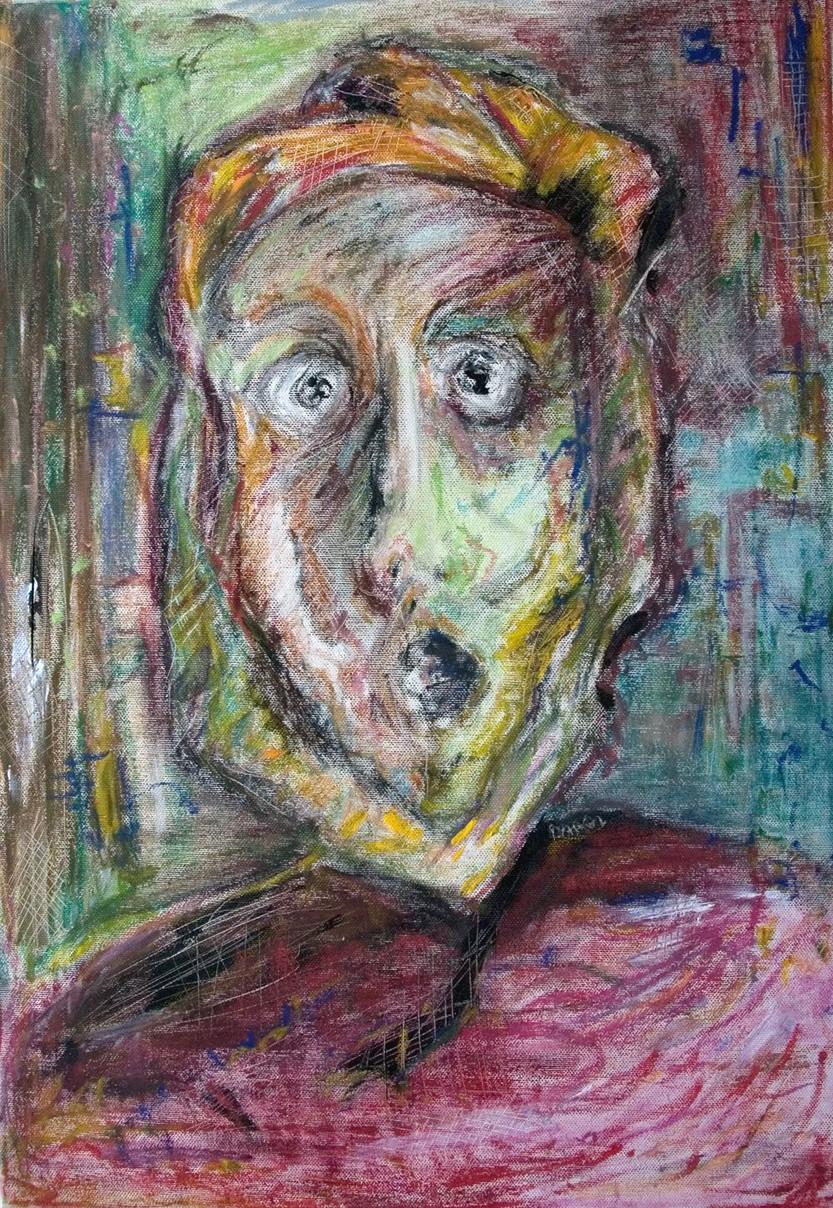 """Untitled"", Acrylic, pastel on canvas, 2005"
