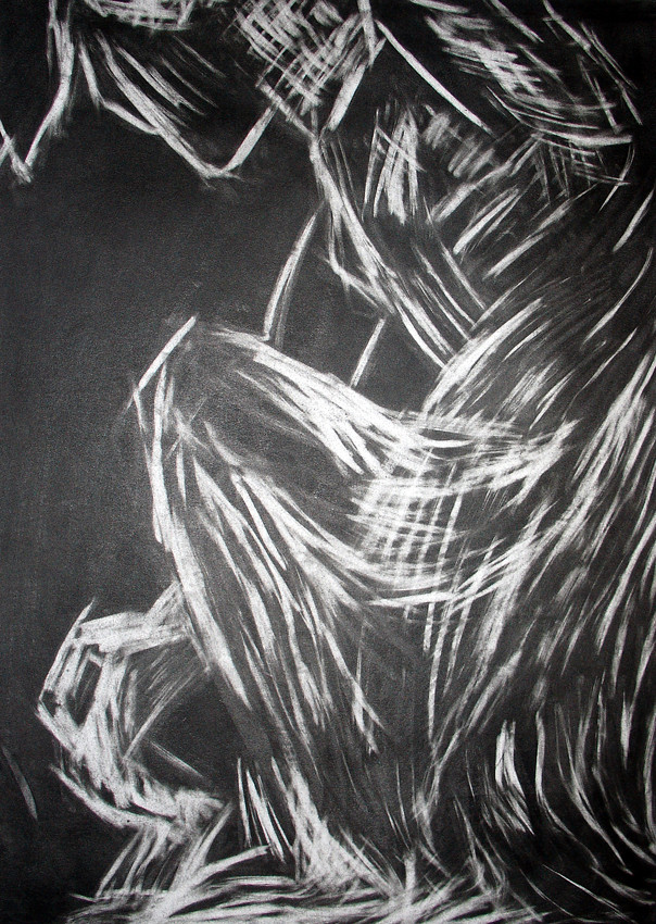 """""""Sculpture III"""", Charcoal on paper, 2006"""