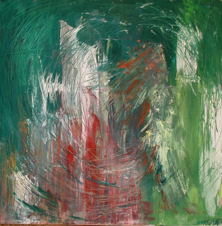 """Untitled"", Pastel, acrylic on canvas, 2009"