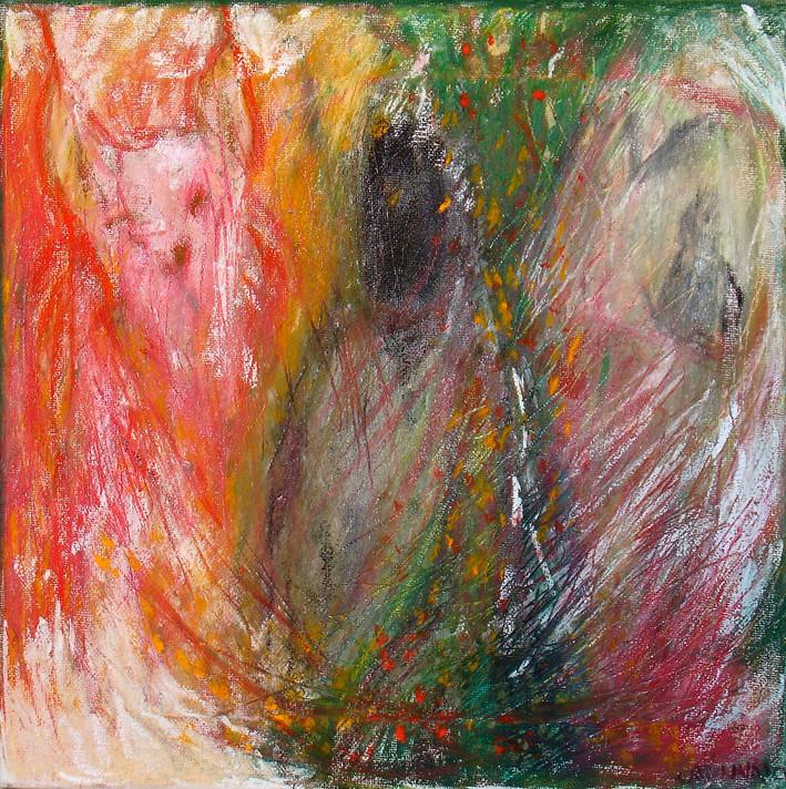 """Secrecy"", Pastel on canvas"