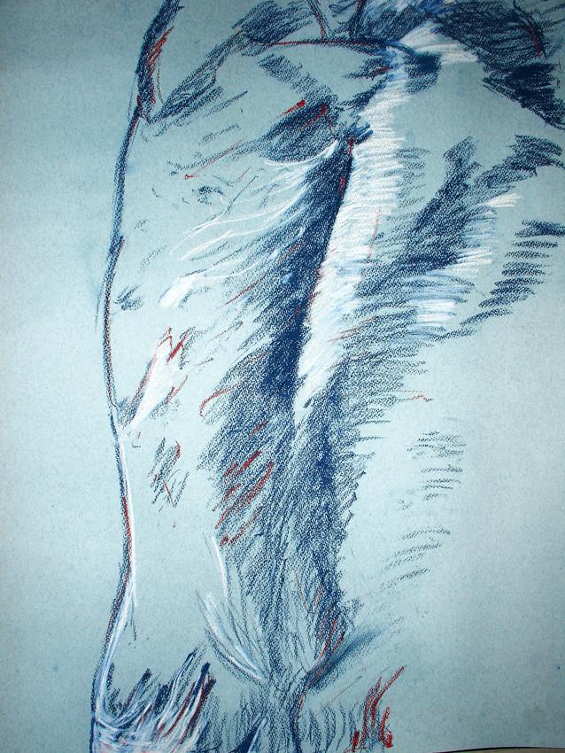 """""""Sculpture II"""", Pastel on paper, 2006"""