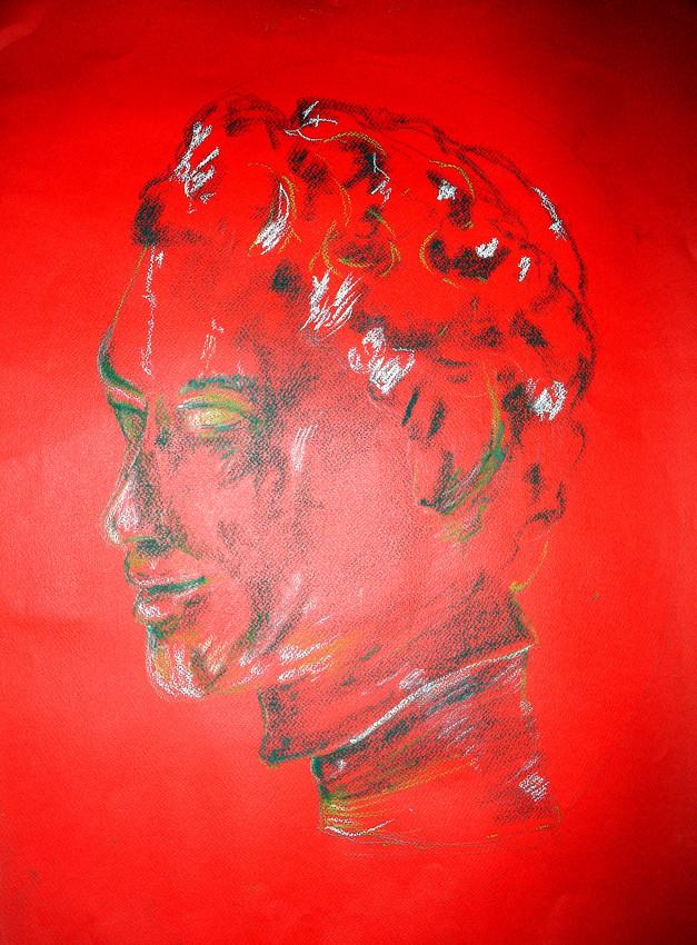 """Sculpture I"", Pastel on paper, 2006"