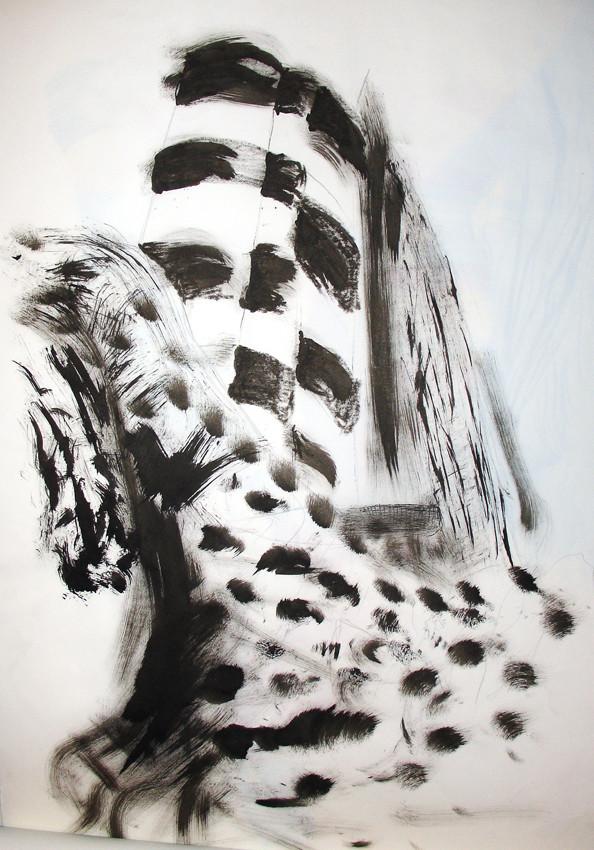 """Drapery III"", Graphite, ink on paper, 2005"
