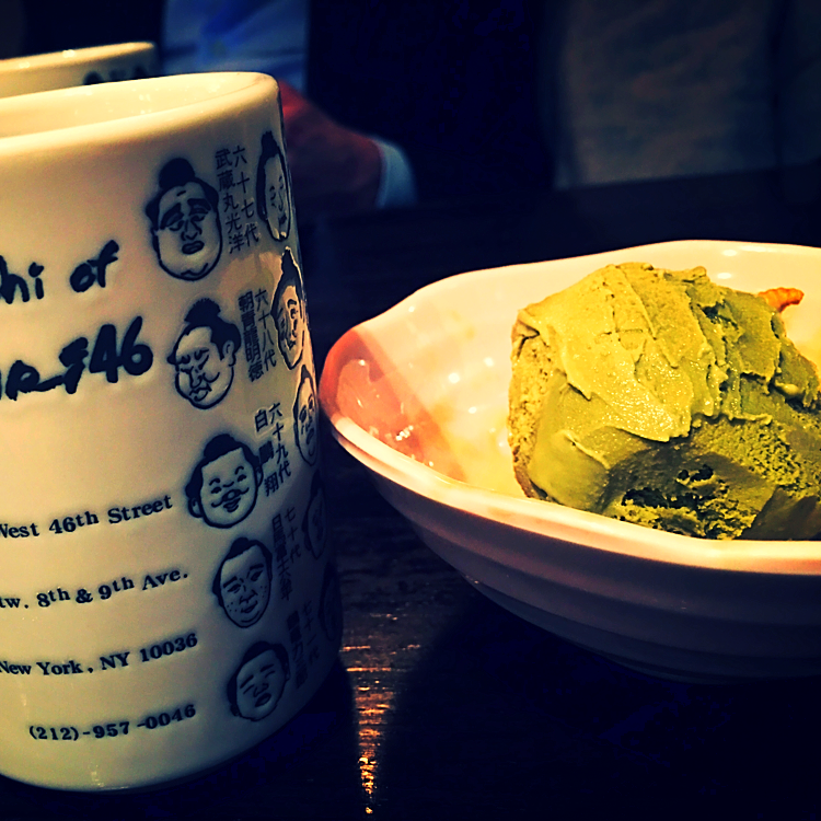 Green Tea Ice @Sushi of Gari - New York, USA
