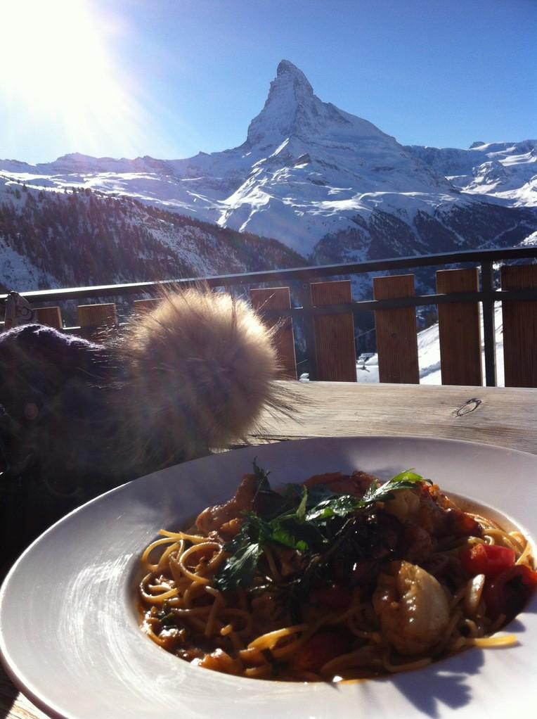Lobster Spaghetti@Paradies - Zermatt, Switzerland