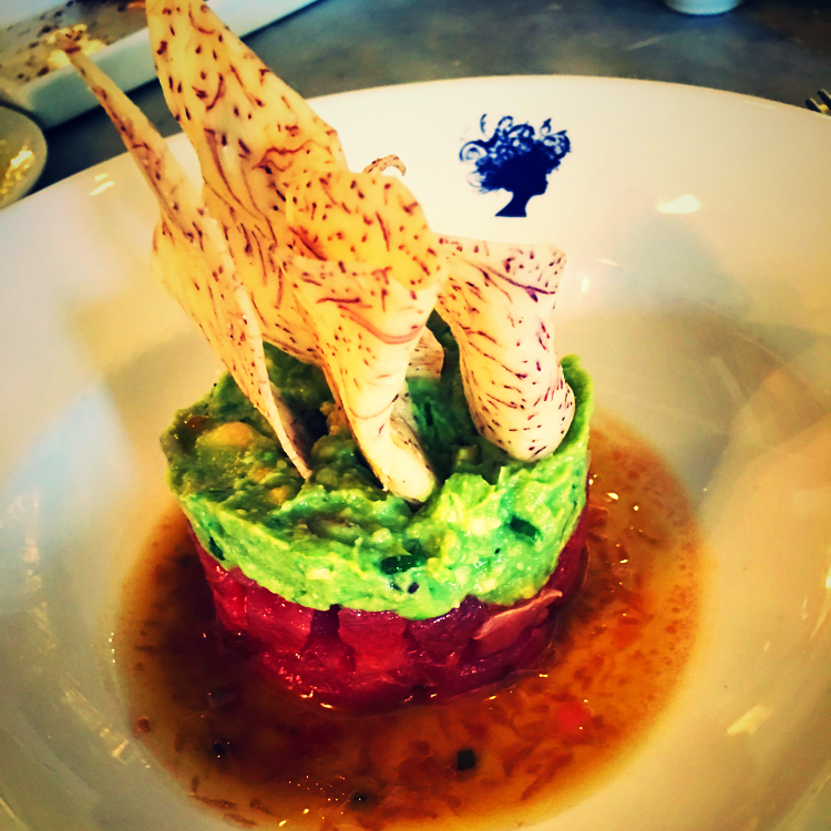 Tuna-Avocado Tartare @Bagatelle Daytime Party - New York, USA