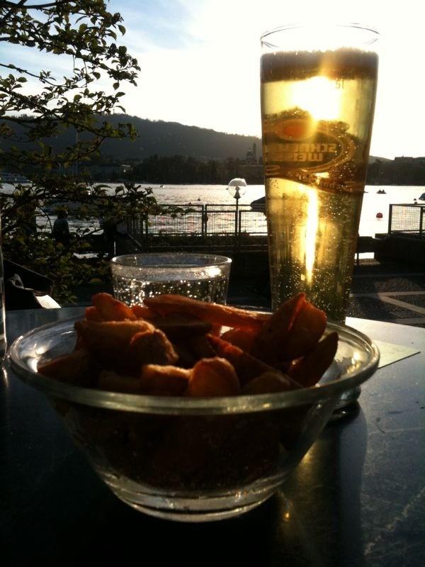 Beer as cold as your ex-girlfriends heart@Biergarten Pumpstation - Zürich, Switzerland