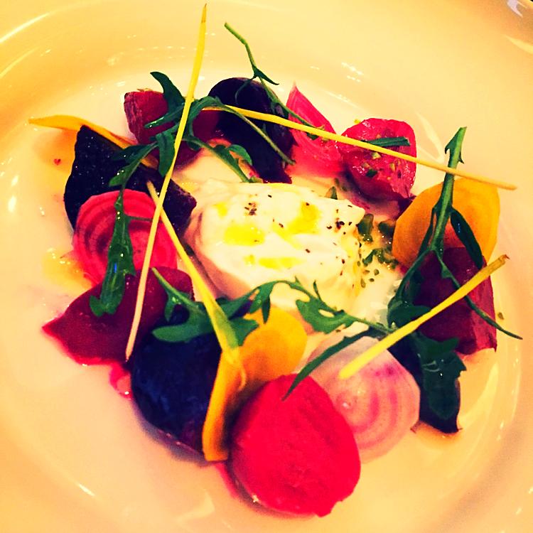 Warmer Ziegenkäse Salat @Aureole - New York, USA