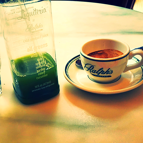 Green Juice & Espresso @Ralph`s coffee (POLO Store 5th avenue) - New York, USA