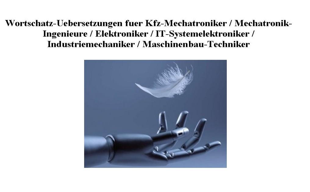 englisch woerterbuch mechatronik autos post