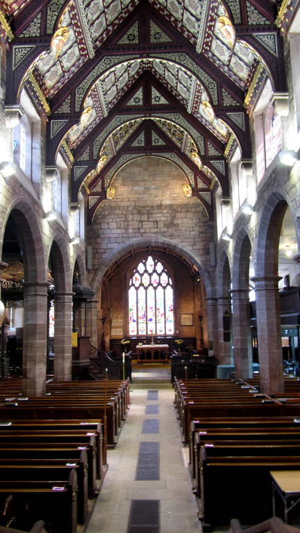 View down the nave looking east towards the chancel