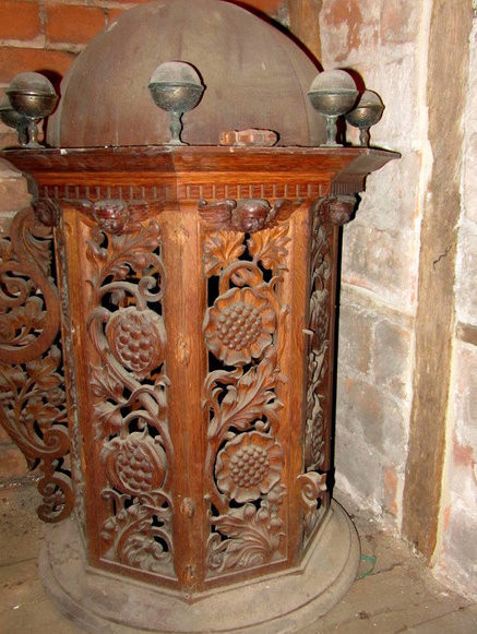 Victorian font cover