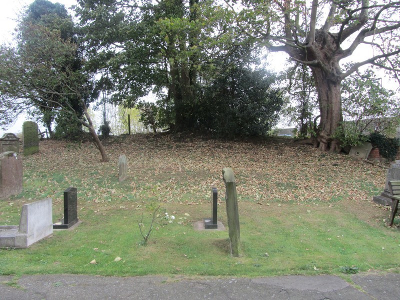 The mound south of the church - Shawbury