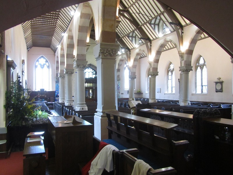 South aisle and nave viewed from the south choir stalls