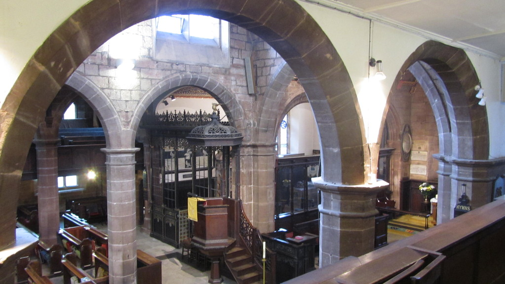 Pulpit viewed from the south gallery