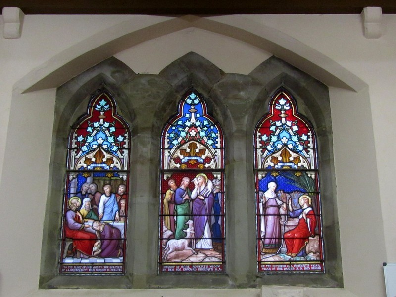 Window is in memory of Anne Roberts, widow of the Rev R J Roberts 1883