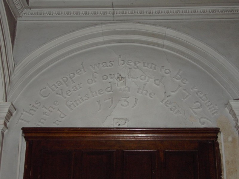 Inscription over the south door