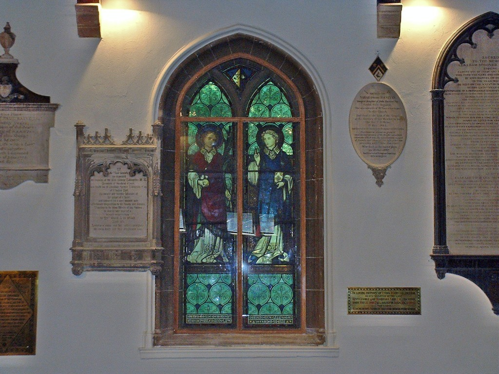 Stained glass - St Nicholas and St Stephen