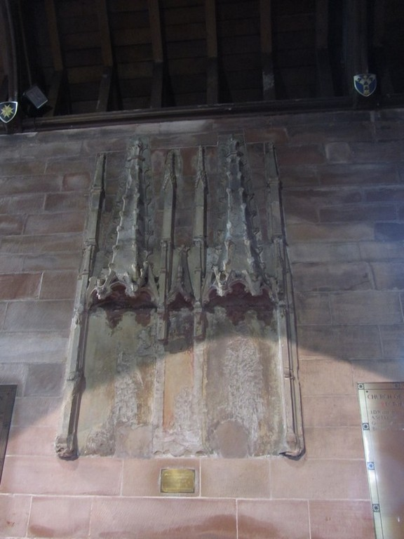 North aisle - the old reredos