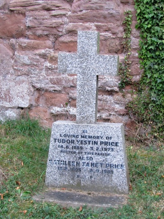 Grave of Tudor Yestin Price by the east wall.