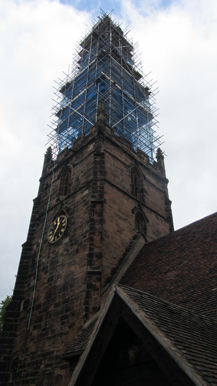 Restoration of spire and tower May 2011