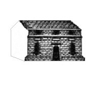 Conjectural view of the Norman chapel based on Beighton's drawing above.